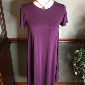 NWT LuLaRoe XXS Purple Carly